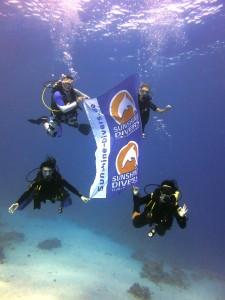 unterwasser Fahne